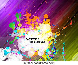 volantini, colorito, fondo, affari