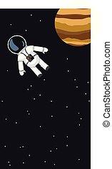 volare, astronauta, spazio