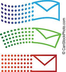 volare, email, icone