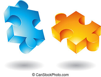 volare, jigsaw, 3d, icone