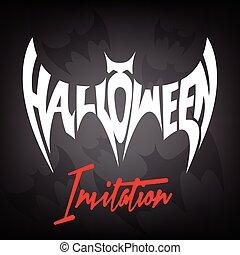 volare, pipistrello, concetto, halloween, invito