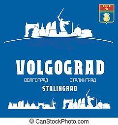 volgograd, skyline città, russia