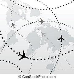 volo, progetti, viaggiare, collegamenti, mondo, aeroplano