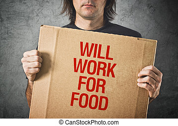 volontà, cibo, lavoro