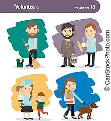 volontari, caratteri