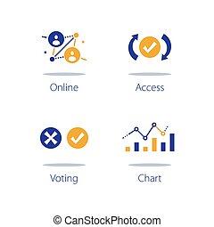 votazione, analisi, raccolta, sistema, elaborazione, informazioni, analisi, linea, dati, personale