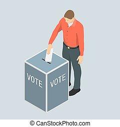 vote., uomo, compartecipe