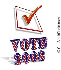 voto, 2008, grafico, 3d