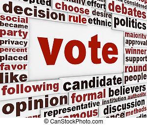 voto, manifesto, concetto, politico