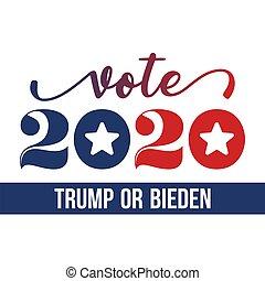 voto, o, donald, biden, 2020, briscola, joe