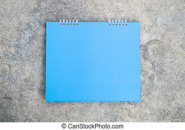 vuoto, blu, calendario