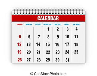 vuoto, calendario