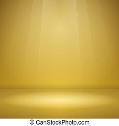 vuoto, giallo, palcoscenico