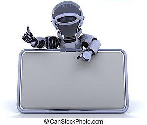 vuoto, robot, segno