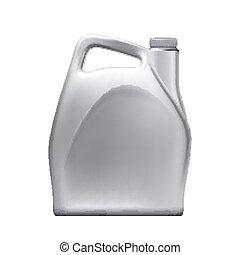 vuoto, vettore, automobile, olio, jerry, motore, lattina, lubrificazione
