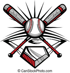 w, attraversato, pipistrelli, softball, baseball, o
