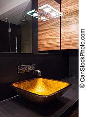 washbasin, moderno, illuminato