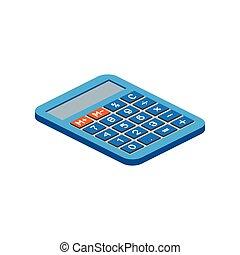 web, anche, infographics., calcolatore, isometrico, utile, domanda, bianco, vettore, disegno, fondo., illustration., interfaccia