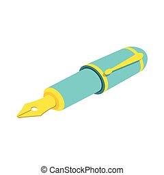 web, anche, infographics., fontana, isometrico, utile, penna, domanda, vettore, bianco, disegno, fondo., illustration., interfaccia