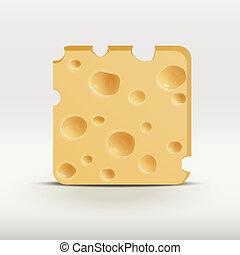 web, app, illustrazione, vettore, cheese., icona