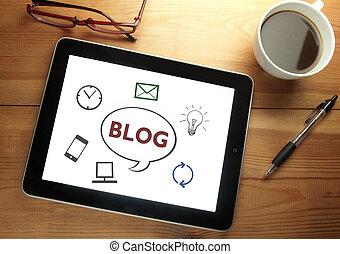 web, blog, disegno