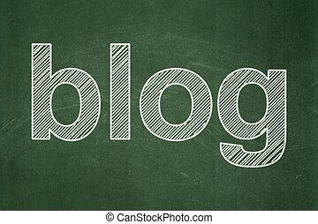 web, blog, disegno, lavagna, fondo, concept: