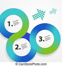 web, cerchio, infographic, sagoma
