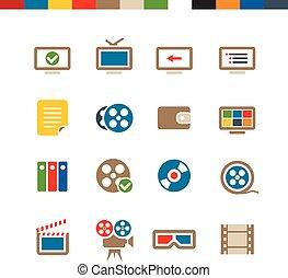 web, cinema, collezione, icone