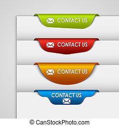 web, colorare, contatto, segnalibro, bordo, etichetta, pagina