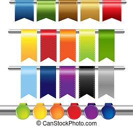 web, colorare, nastri