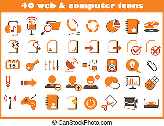 web, computer, 40, icone