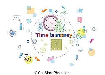 web, concetto, affari, orario, soldi, amministrazione, scadenza, tempo, bandiera