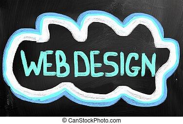 web, concetto, disegno
