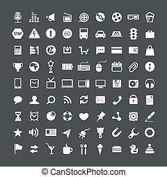 web, domanda, collezione, icone