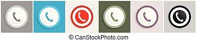 web, domande, set, telefono, vettore, disegno, mobile, 6, illustrazioni, opzioni, icona