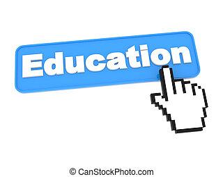 web, educazione, button.