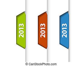 (web), etichette, /, bordo, vettore, adesivi, pagina, 2013