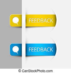 (web), feedback, etichette, /, bordo, adesivi, pagina