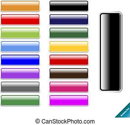 web, formato, multi colorato, lucido, 2.0, aqua, redigere, style., internet, qualsiasi, buttons., collezione, facile