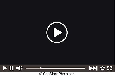 web, giocatore, vettore, video, illustrazione