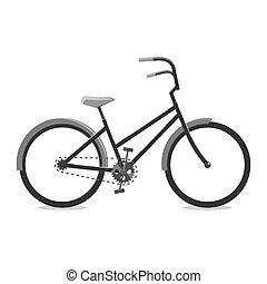 web, grafico, ciclismo, mobile, utente, application., illustrazione, bicycle., luogo, vettore, media, sociale, black., disegno, logotipo, interfaccia