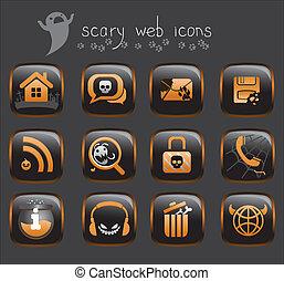 web, halloween, icone