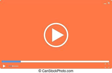 web., illustrazione, giocatore, vettore, video, sagoma