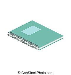 web, isometrico, utile, illustration., fondo., quaderno, anche, infographics., vettore, disegno, interfaccia, domanda, bianco