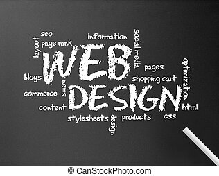 web, lavagna, -, disegno