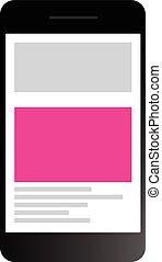 web, multiplo, pienamente, luogo, piattaforme, disegno, sensibile, attraverso
