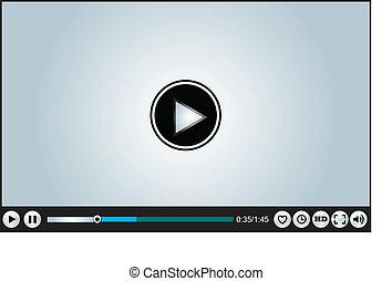 web, o, video, internet, basato, giocatore