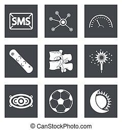web, progetto serie, 40, icone