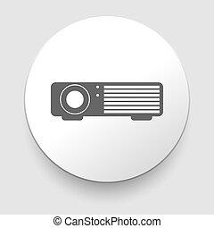 web, proiettore, semplice, -, vettore, icona