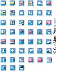 web, protone, icone